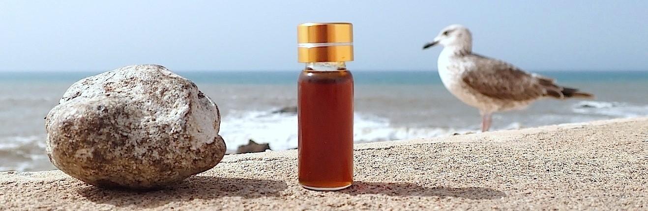 Teinture, huile et résinoïde d'ambre gris